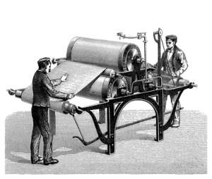 klassische Warenschau in der Textilproduktion