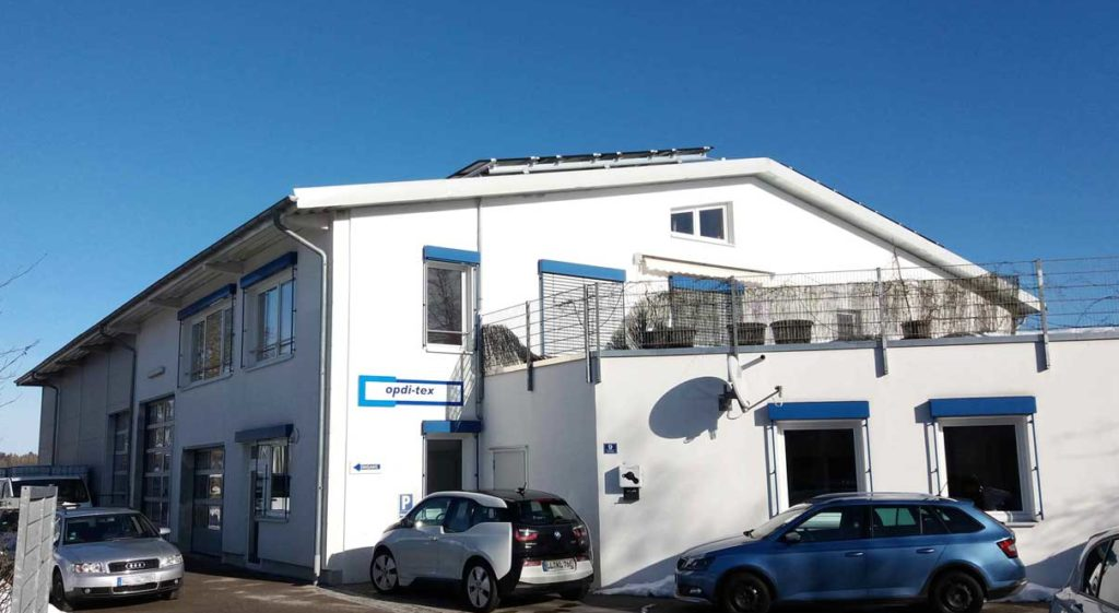 Firmengebäude der opdi-tex GmbH in Eresing/ Landkreis Landsberg a. L. (Nähe Ammersee)